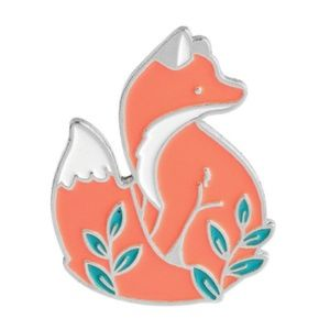 Cute Fox Enamel Pin